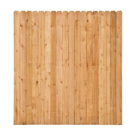 6 ft x 8 ft western cedar ear fence panel kit