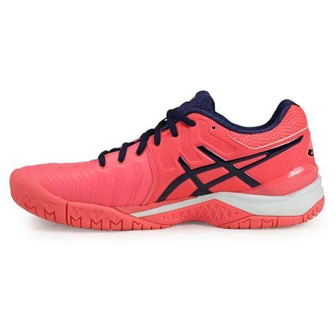 asics gel resolution 7 womens tennis shoe pink e751y 2049