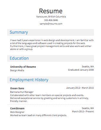 resume maker free quick resume builder free easy resume template