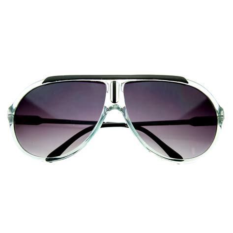 Designer Sunglasses by Designer Inspired 80s Style Retro Sport Aviator Sunglasses