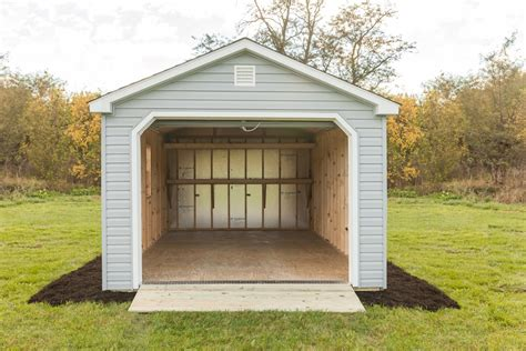12x24 Shed Cost by 12x24 Portable Garage Vinyl Siding Byler Barns