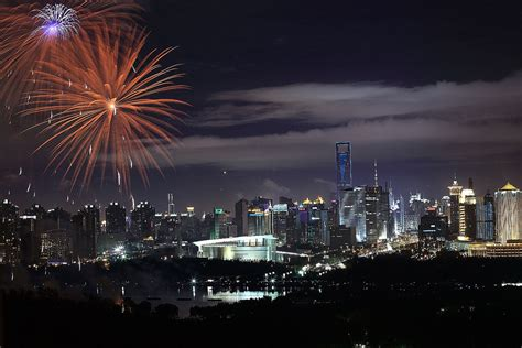 new year fireworks in shanghai festival spotlight the shanghai international