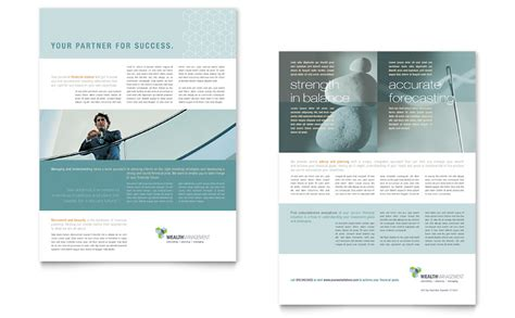 wealth management services datasheet template word publisher
