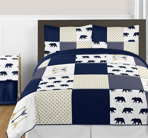 Navy And Gold Bedding by Navy Blue Gold And White Big Boy