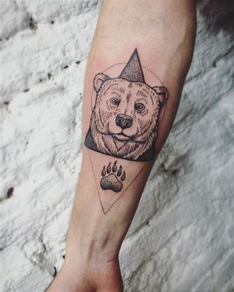 geometric bear tattoo 48 best images about tattoos design on