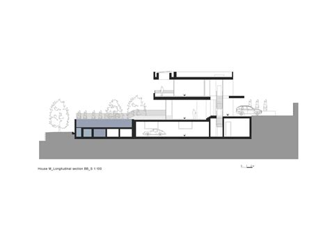 Section 52 Planning by Gallery Of House M Monovolume Architecture Design 52