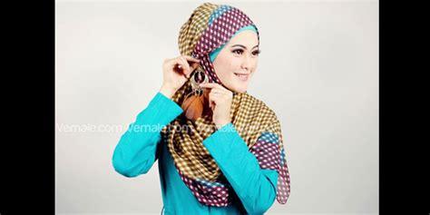 Kerudung Pashmina Hijaber Hijabers Jilbab tutorial jilbab motif kotak kotak