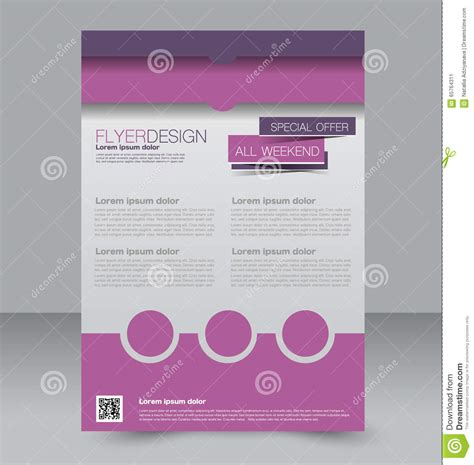 editable templates for brochures brochure design flyer template editable a4 poster stock