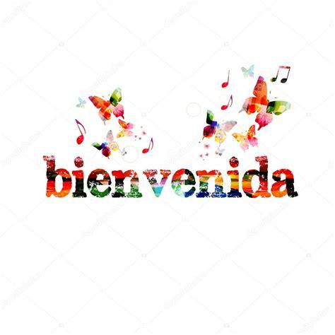imagenes de bienvenida web bienvenida napis kolorowe tło grafika wektorowa