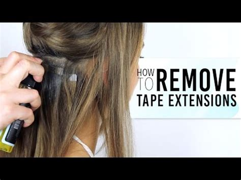 hair treatments after weave removal how to remove tape hair extensions zala hair youtube