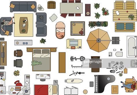 images of floor plans furniture floor plan in color vector getty images