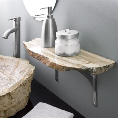 Wood Shelves Bathroom Petrified Wood Shelf Bathroom Shelves Bathroom Accessories Bathroom