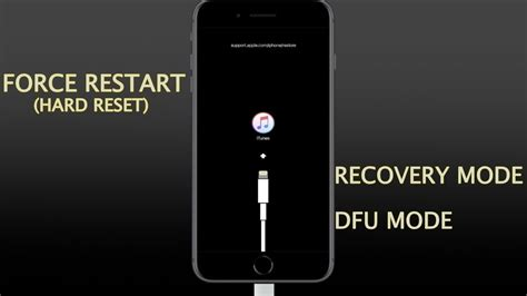iphone 8 8 plus iphone x xs xr how to restart reset enter exit recovery and dfu