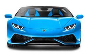Front Of Lamborghini Blue Lamborghini Huracan Lp 610 4 Spyder Front View Car