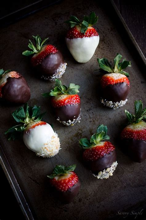 Dessert Chocolate Dipped Strawberries by Chocolate Dipped Strawberries Savory Simple