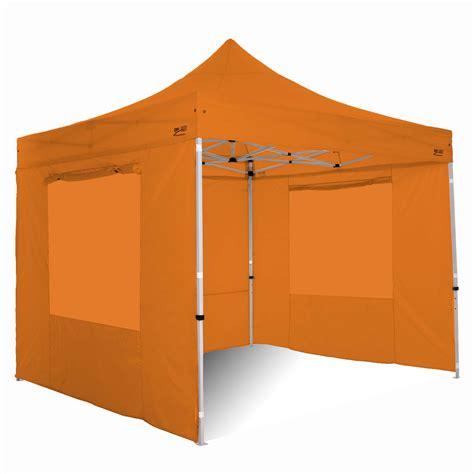 gazebo pieghevole gazebo pieghevole 3x3 alluminio exa 45mm top arancione con