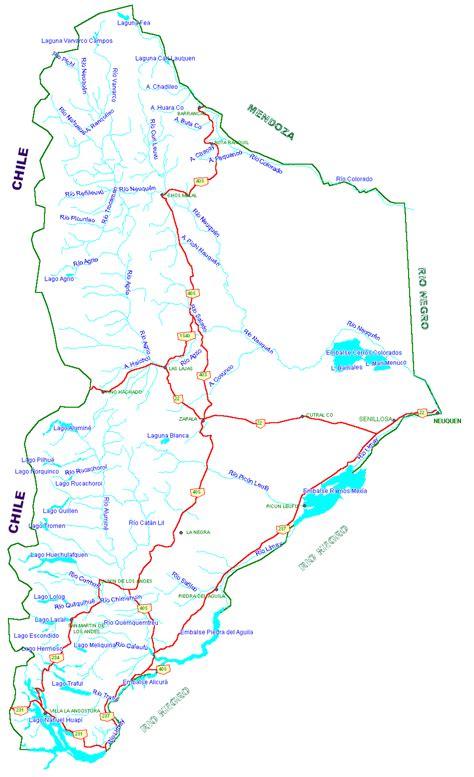 imagenes satelitales de neuquen mapa de rutas de neuquen