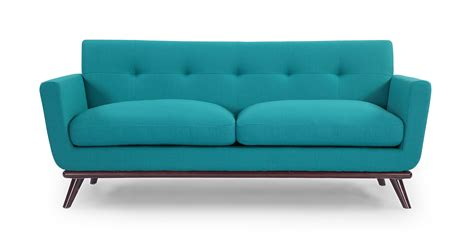 jackie mid century modern classic loveseat turquoise boucle cashmere wool ebay