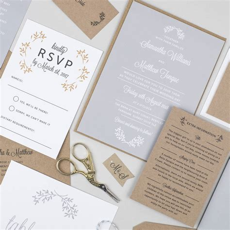 day wedding invitations ballymena day wedding invitation by pear paper co