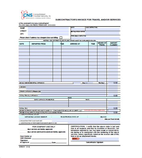 travel agency invoice format in word invoice template doc free