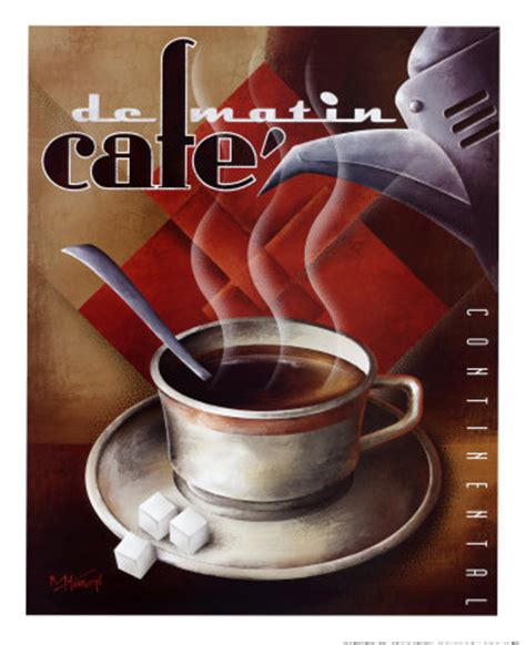 Cafe de Matin Poster by Michael L. Kungl   at AllPosters.com.au