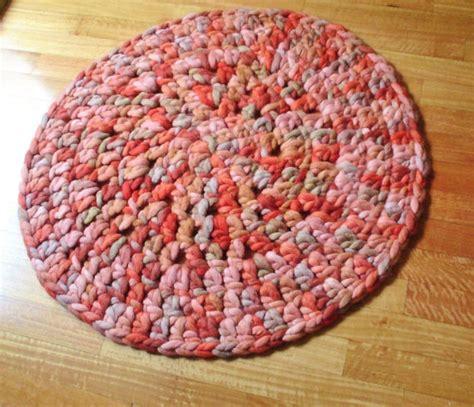 crochet wool rug wool rug crochet rug area rug rug knit rugchunky