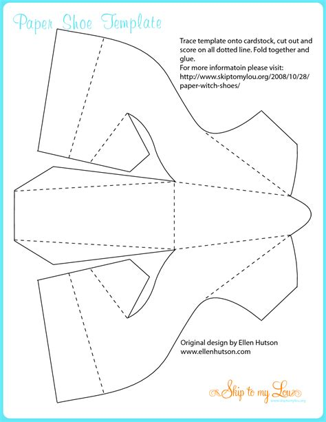 Shoe Template For Card by Decorative Witches Shoes Trace Template Onto Cardstock