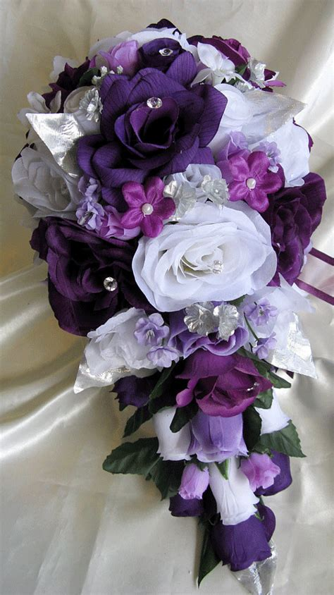 floral purple and silver wedding centerpiecewedwebtalks