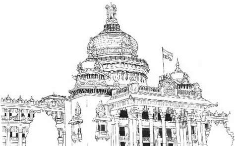 Vidhana Soudha Outline by Illustration By Dipti Sonawane At Coroflot