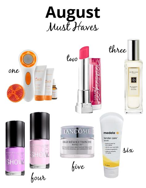 Yumsugars August Must Haves by The Makeup August Must Haves