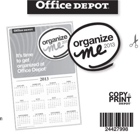 Office Depot To Me Office Depot Free 11x17 Organize Me Calendar Money