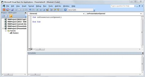 tutorial visual basic powerpoint powerpoint and visual basic for applications