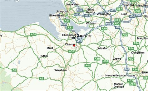 map uk chester chester location guide