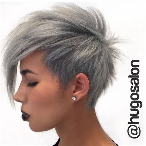 edgy haircuts for gray hair our feature page celebrates edgy beautiful hair makeup
