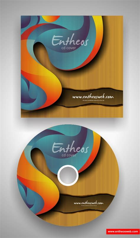 make your own cd cover with coreldraw entheos