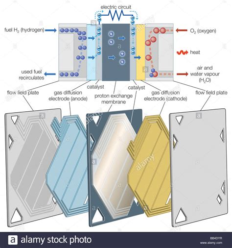 Proton Exchange Membrane Fuel Cell by Proton Exchange Membrane Pem Fuel Cell Stock Photo