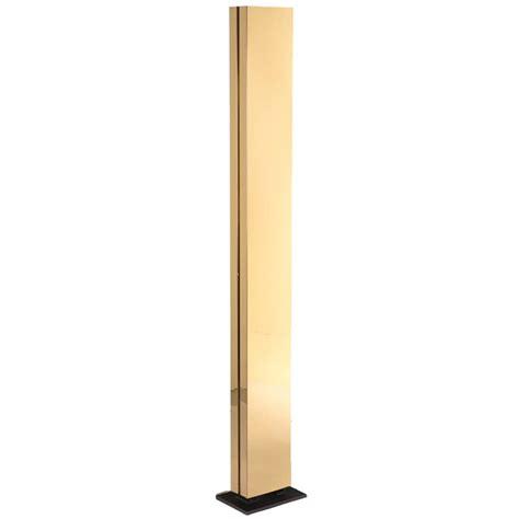 Brass Rectangular Column Floor Lamp  Sale  Stdibs