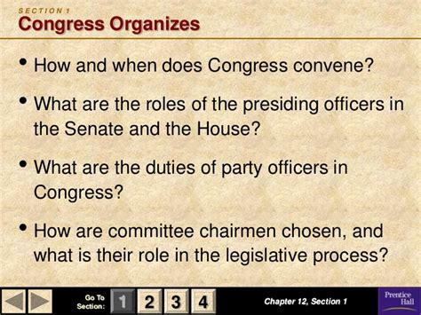 chapter 12 section 2 committees in congress chapter 12 government powerpoint