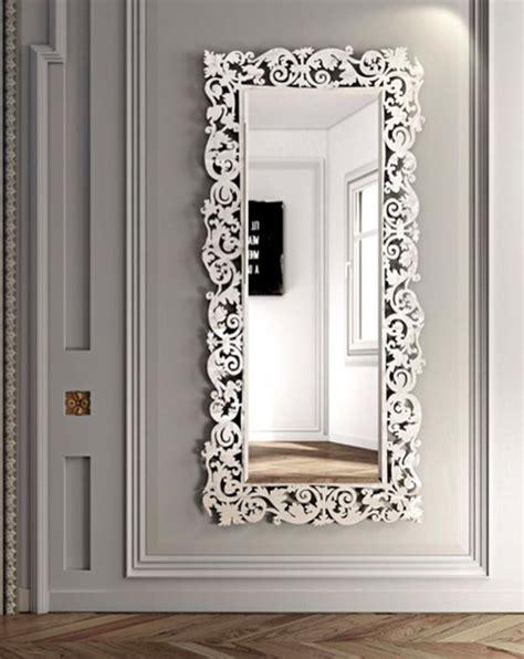 parete di cornici specchio rettangolare a parete con cornice romantico