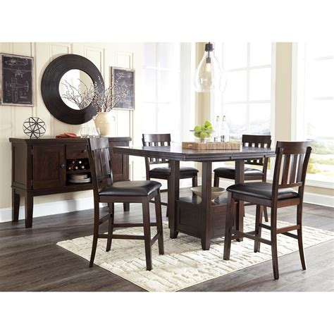 signature design by ashley chimerin casual dining room set signature design by ashley haddigan casual dining room