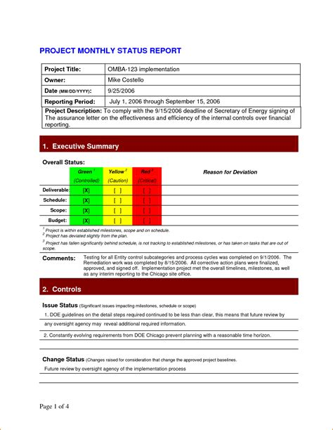 status report template 5 project status report template teknoswitch