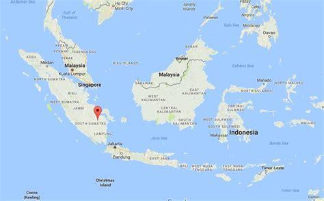 palembang  map indonesia