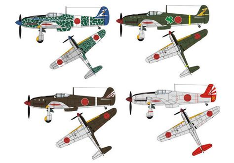 Papercraft Aircraft - new paper craft wwii kawasaki ki 61 hien tony fighter