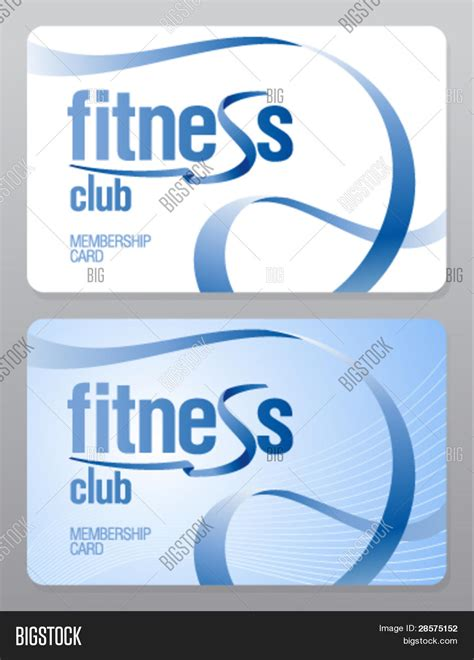 Country Club Membership Card Template by Fitness Club Membership Card Vector Photo Bigstock