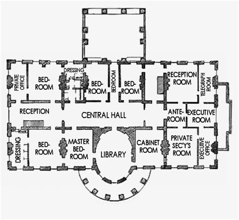 floor plan of the white house second floor white house museum