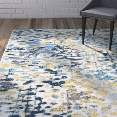 yellow and blue area rugs varick gallery ladson yellow blue area rug wayfair