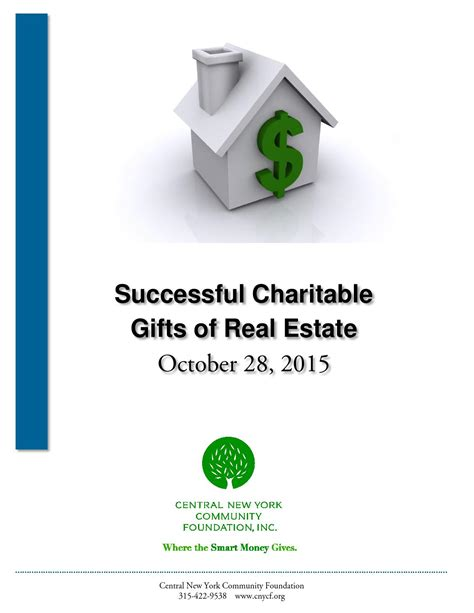successful charitable gifts of real estate by central new