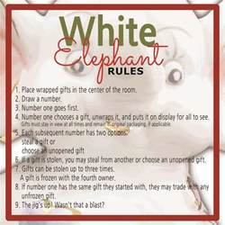 white elephant gift exchange rules and printables sunshine and rainy days