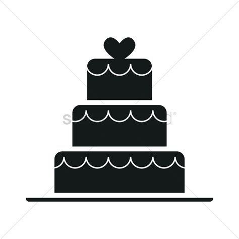 Wedding Vector Silhouette by Wedding Cake Silhouette Vector Image 1900593