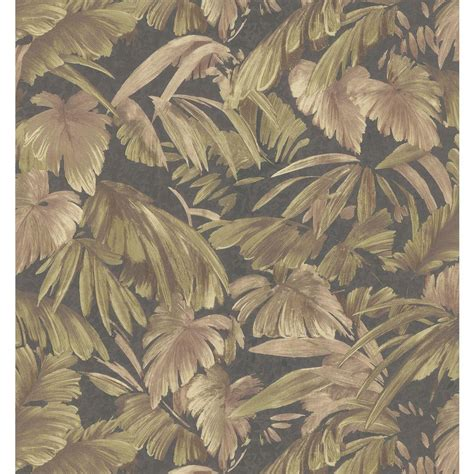 brewster jungle leaf wallpaper 402 42859 the home depot